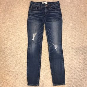 Madewell jeans with rips